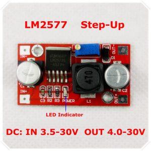 Alimentatore convertitore variabile DC- DC LM2577 step up 3A ARDUINO