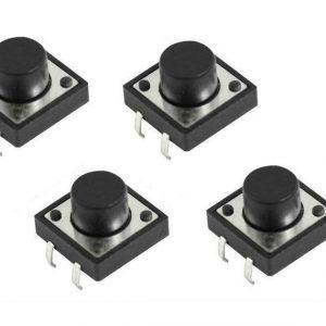 12 Pezzi Tactile Push bottone Pulsante 12x12x6mm 12x12x6