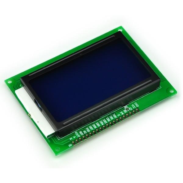12864 LCD Schermo, LCD blue Schermo with backlight, ST7920 standard Schermo