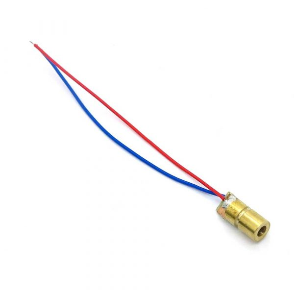 650nm 5mw 5V laser head, laser Diodo, dot, copper semiconductor laser tube, 6MM OD