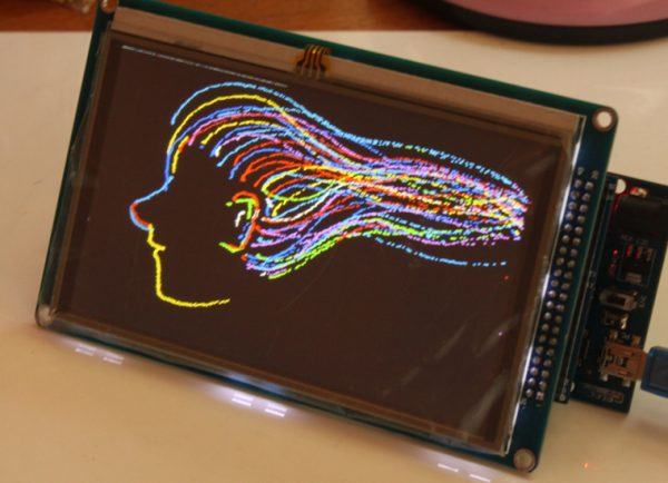 TFT01 3.2' touch LCD super library display