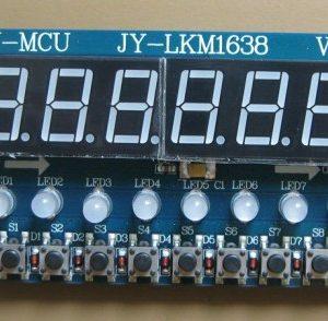 TM1638 8X Green Light Digitale Tube + 8X Key + 8X Double Color LED Modulo