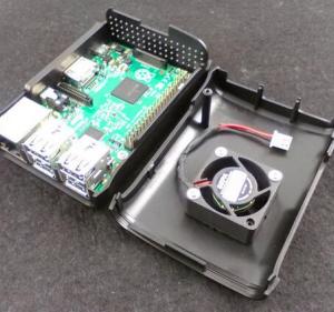 Black Raspberry pi 3 Case With Fan2