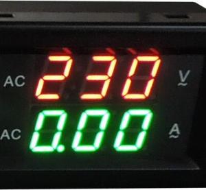 YB4835VA 300V 1000A Split Dual LED Voltmetro Amperometro Digitale