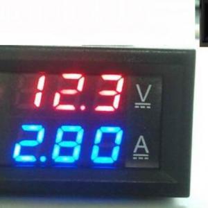 DC0-100V 100A Red+Blue and 100A Shunt Dual LED Voltmetro Amperometro Digitale