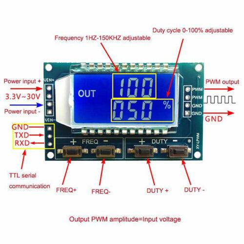 Modulo generatore di segnali frequenza PWM da 1Hz a 150Khz dc 3.3V-30V arduino