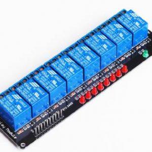 Scheda di sviluppo per microcontrollori 8 canali relè Shield supporta AVR / 51 / PIC per Arduino