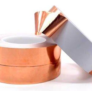 5mm * 0.1mm 50meter / bobina bobina di rame nastro singolo lato