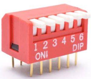 Interruttore a levetta a quadrante da 2,54 mm a 2 vie da 2 pezzi
